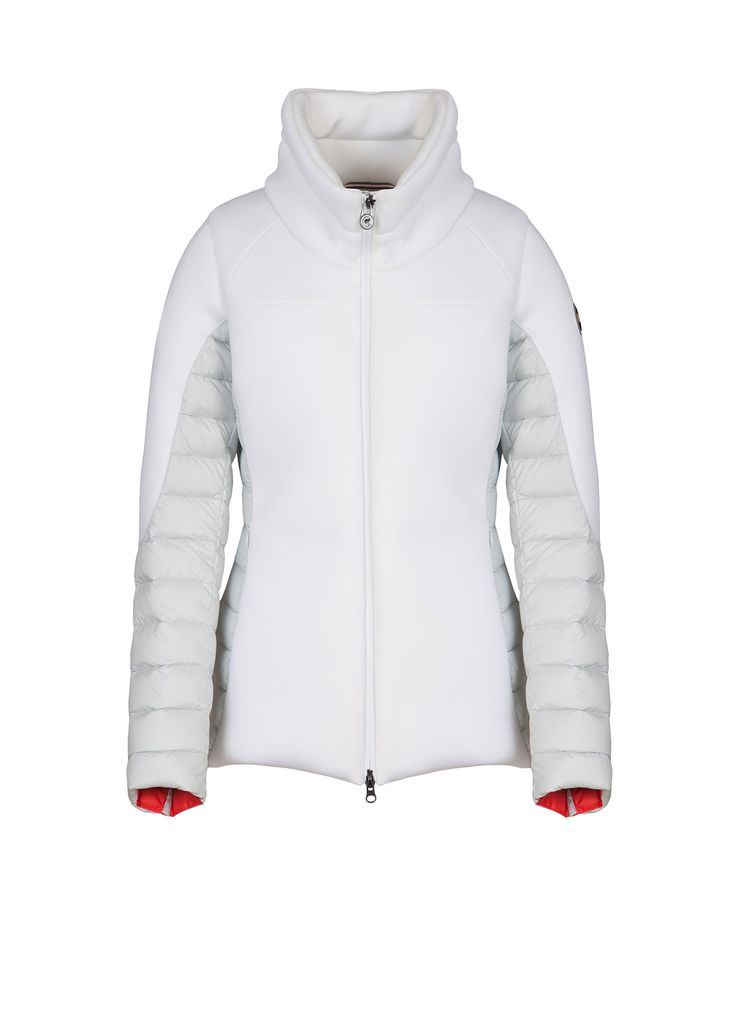 Colmar Originals women's down jacket in neoprene-effect fabric, paired to superlight matt fabric with natural down feather padding - Colmar