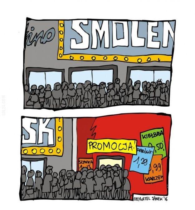"""Tłumy przed kinem """"Smoleńsk"""" #tłumy #przed #kinem #Smoleńsk"""