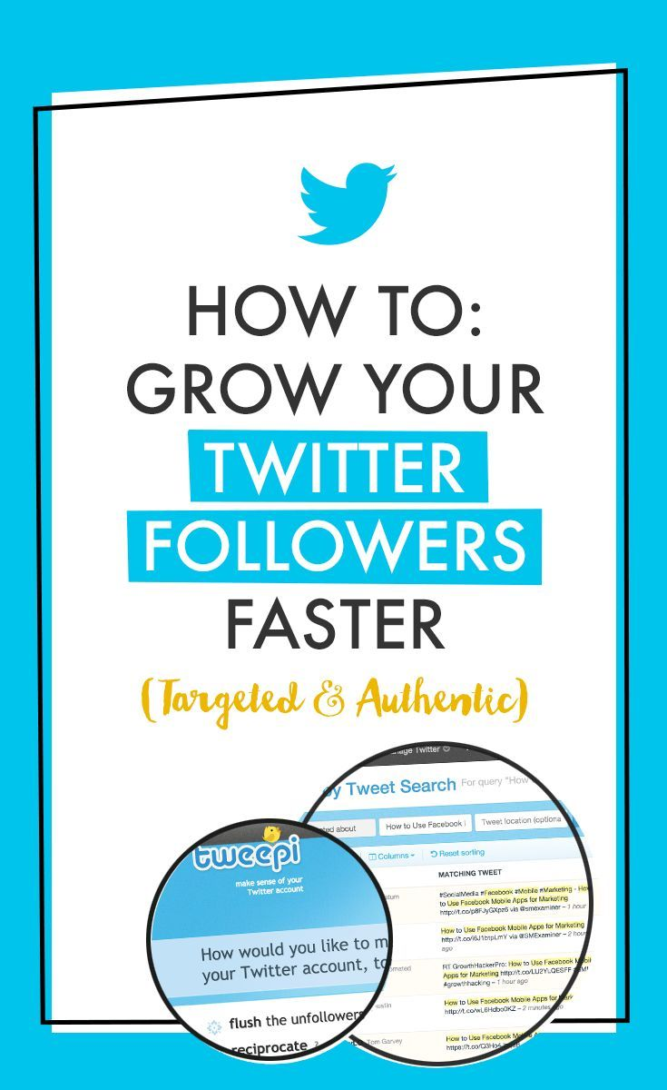 How To Get More Twitter Followers - Learn how to grow your followers (targeted and authentic) using Tweepi. Click the PIN for the tutorial.