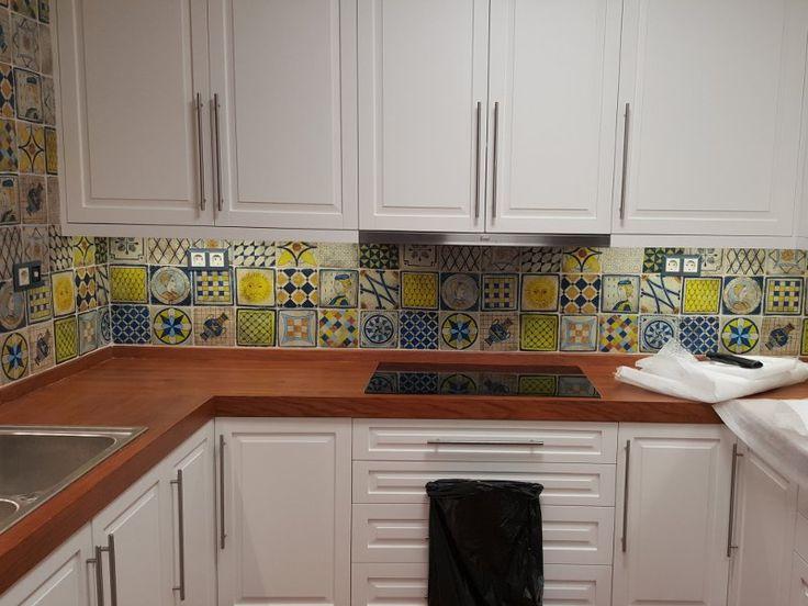 Handmade Kitchen Tiles Travertino volcanic Pelion painted Designs 16 x 16cm From studio travertino  http://www.studio-travertino.gr/kouzinas-xeiropoihta-plakak…