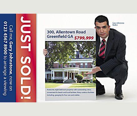 just sold postcards for realtors