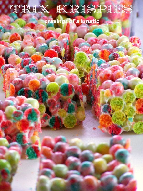 Trix Krispies | Cravings of a Lunatic | Super fun treat for any party, picnic or gathering.