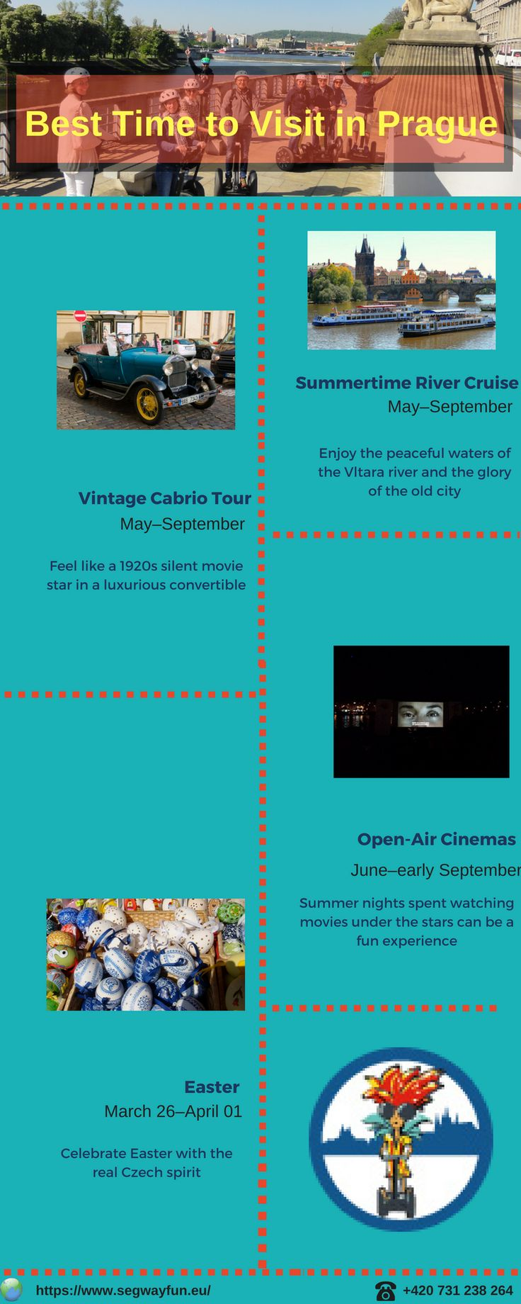 Prague is the beautiful city in Czech Republic. #Prague #city #tour offers many memorable tour to it's visitor. This infographic will help you to know the best time to visit Prague.