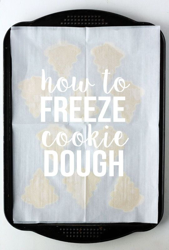 How to freeze cookie dough. Great way to get ahead with your holiday baking.