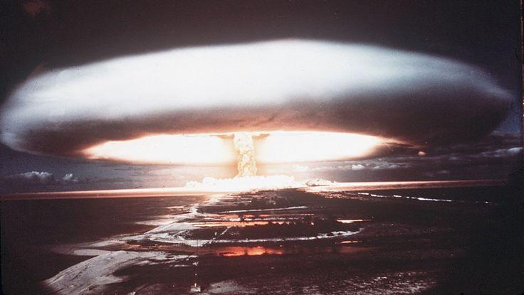 Atomprøvesprengning i Fransk Polynesia - Atomprøvesprengning i Mururoa i Fransk Polynesia i 1971. - Foto: - / AFP