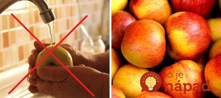 Umývať ovocie či zeleninu vodou nestačí. Ak si chcete byť istí, že ste kupované potraviny očistili od pesticídov a iných chemických látok, vyskúšajte tento jednoduchý trik. Všetko potrebné pritom máte doma v kuchyni.