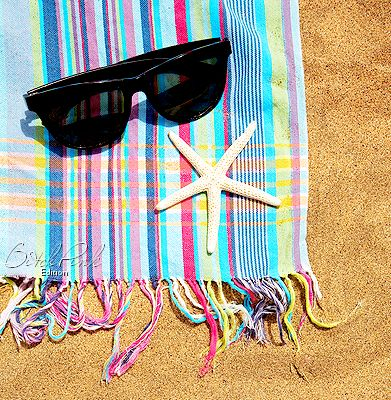 summer, beach, starfish, ray bans