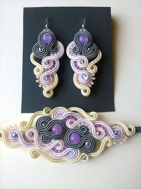 Soutache set Milo by VenoraArt on Etsy