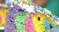 Bolo Arco-íris | Tortas e bolos > Receita de Bolo | Receitas Gshow