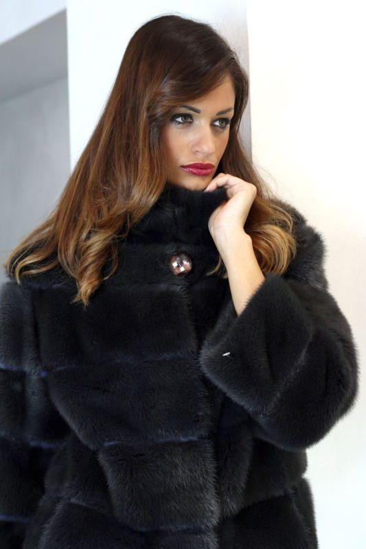 Pelliccia cappotto di pelliccia visone cappotto giacca fur coat mink PELLICCIA VISONE FOURRURE норка