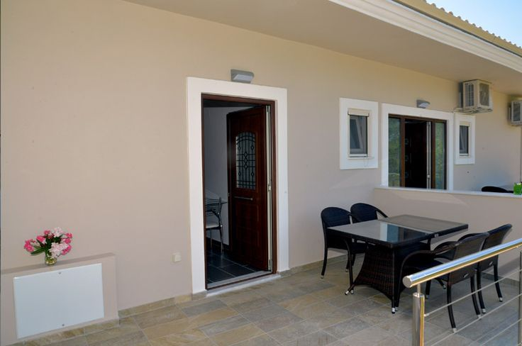 luxury apartment corfu, spacious balcony