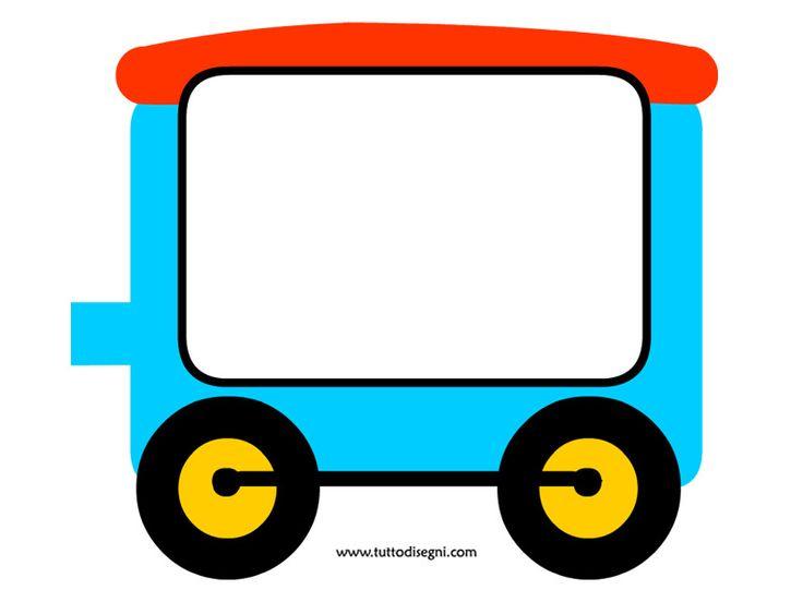 Trenino portafoto - vagone 3 - TuttoDisegni.com