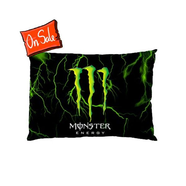 Monster Energy Rectangle Pillow Cases comfortable to sleep code
