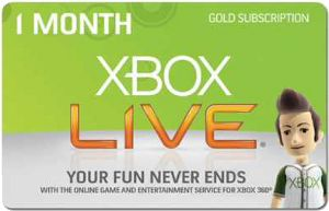 Free Xbox Live - One MonthThis is cool! I got a free Xbox Live 1 month card code and it redeemed just fine! Crazy! Check this site out: freexboxlivemonth→ com
