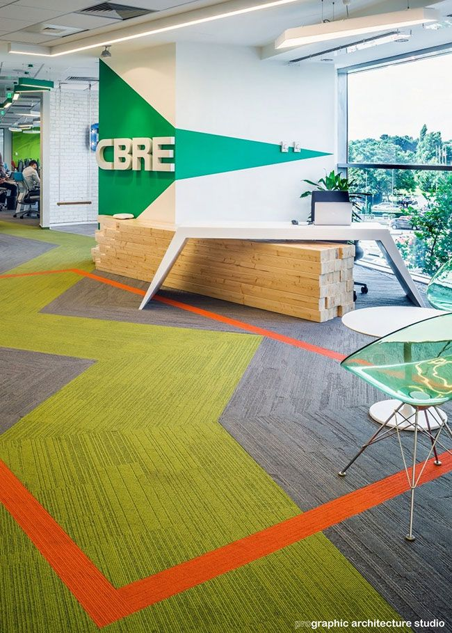 CBRE - Reception desk and open space acces
