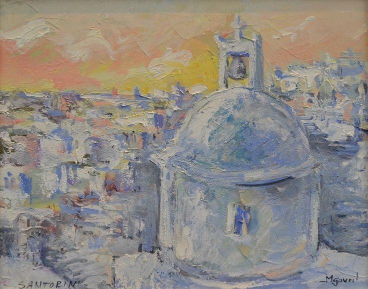 Cupolă la Santorini – Mihail Gavril – 2940 lei | EliteArtGallery - galerie de artă