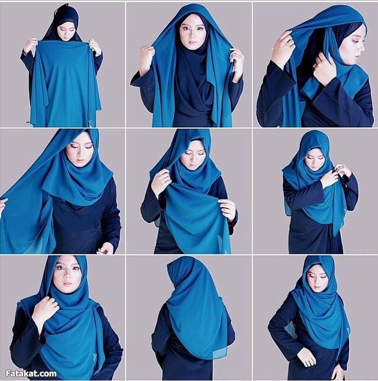 model tutorial hijab simple syari harian