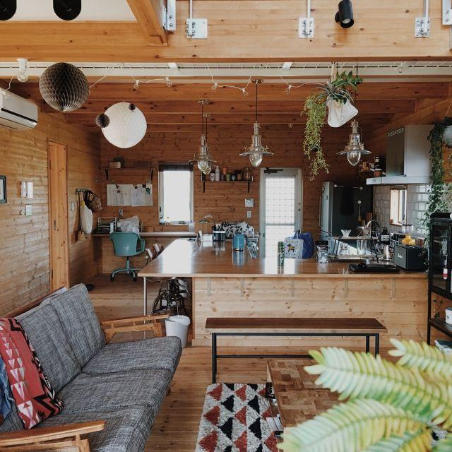 Masumiさんの、部屋全体,観葉植物,無印良品,IKEA,ダイニング,ソファ,ダイニングキッチン,新築,ジャーナルスタンダードファニチャー,マイホーム,ステンレスキッチン,CRASH GATE,BESSの家,ACME FURNITURE,ワンダーデバイス,journal standard Furniture,Instagram⇨masumi_04,メッシュ天井,のお部屋写真