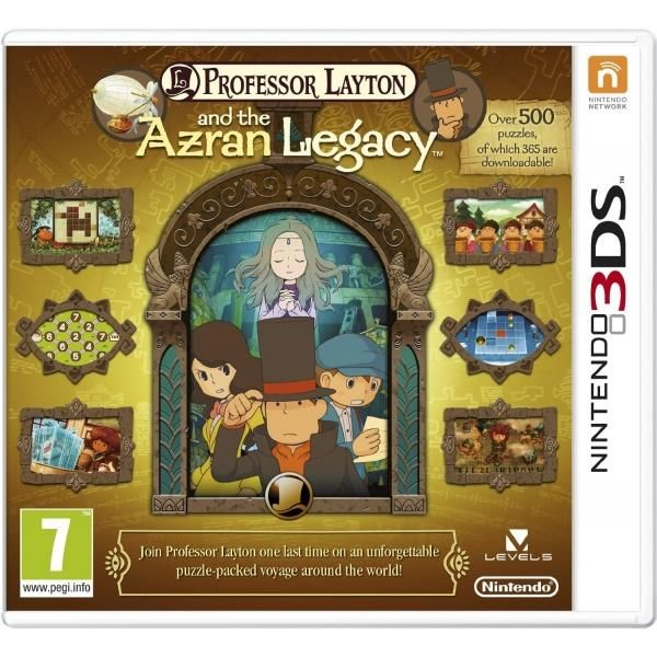 Professor Layton & And The Azran Legacy (legacies) Game 3DS | http://gamesactions.com shares #new #latest #videogames #games for #pc #psp #ps3 #wii #xbox #nintendo #3ds