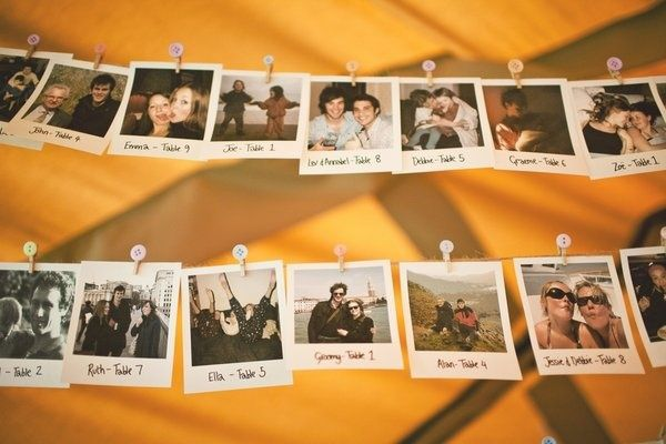 15 Alternative & Unique Seating plans for your upcoming reception. We particularly like the Polaroid and drinking glass ideas.