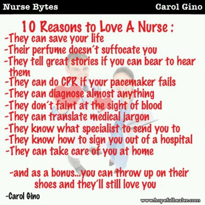 Reasons to be a nurse