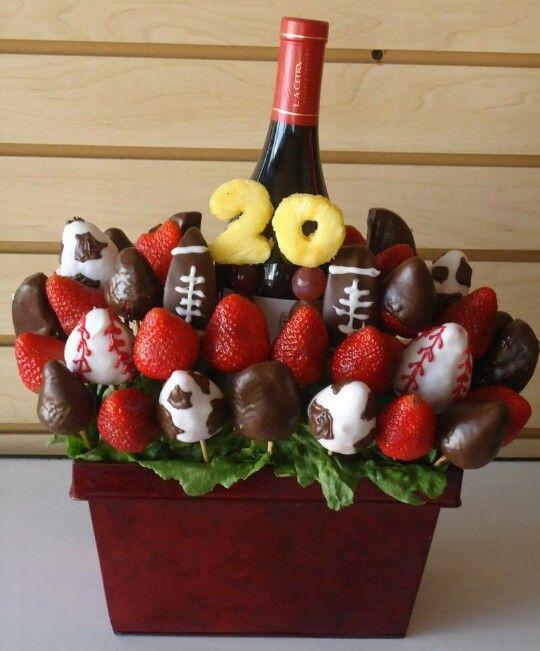 Fresas con chocolate y vino