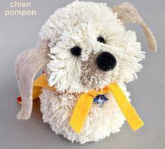 Tutoriel faire un chien avec des pompons en laine                                                                                                                                                                                 Plus