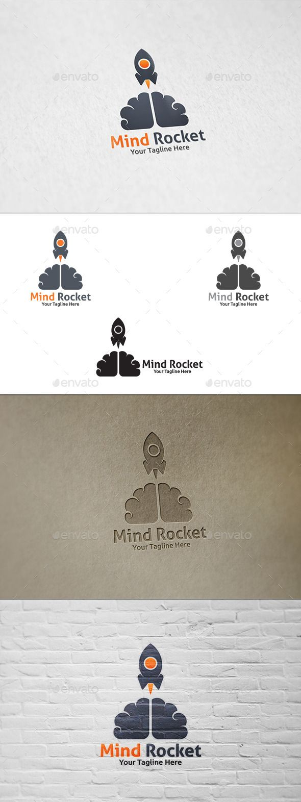 Mind Rocket  - Logo Design Template Vector #logotype Download it here: http://graphicriver.net/item/mind-rocket-logo-template/8945405?s_rank=485?ref=nexion
