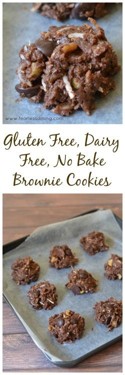 Gluten Free, Dairy Free, No Bake Brownie Cookie Bites  http://www.fearlessdining.com