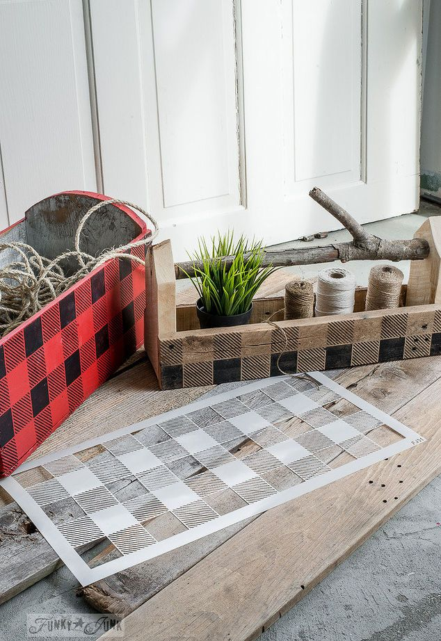 plaid anything up with paint
