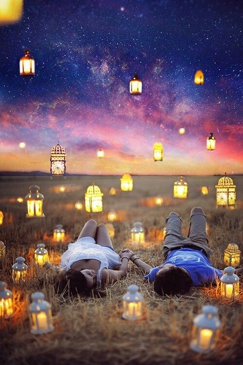 #couple love teen  Under the stars ♥