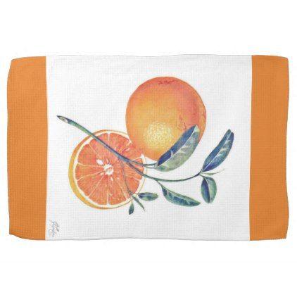 J Spoelstra Kitchen Towel Oranges Hand Towel - classic gifts gift ideas diy custom unique