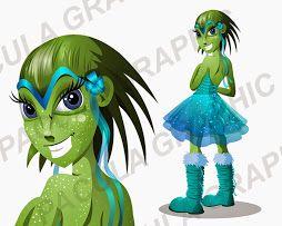fantasy girl - vector illustration