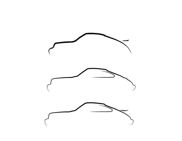 porsche single line silhouette drawing - Buscar con Google