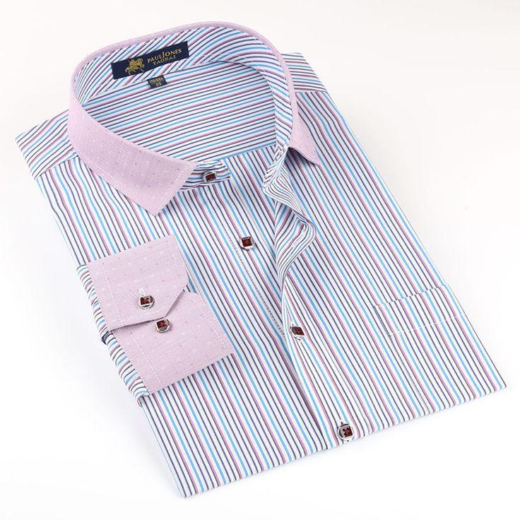 Alta qualidade Men manga comprida camisas contraste de negócios colarinho casuais formais Camisa masculina Camisa Hombre chemise homme masculina em Camisas Casuais de Roupas e Acessórios - Masculino no AliExpress.com | Alibaba Group