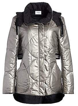 Akris Punto Women's Metallic Nylon Puffer Coat