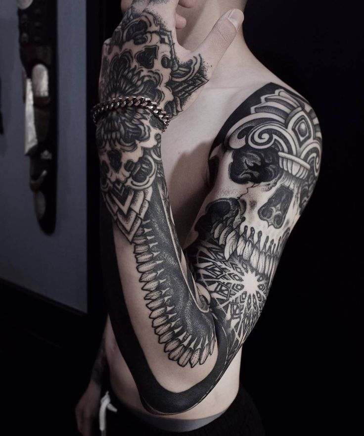 17 best ideas about skull sleeve on pinterest skull sleeve tattoos tatto sleeve and sleeve. Black Bedroom Furniture Sets. Home Design Ideas