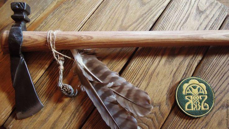 Купить Краснокожий - коричневый, краснокожий, индейцы, индеец, трубка мира, томагавк, подарок для мужчины