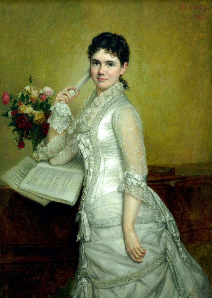 HEALY, George - Portrait of Miss Fanny Peabody
