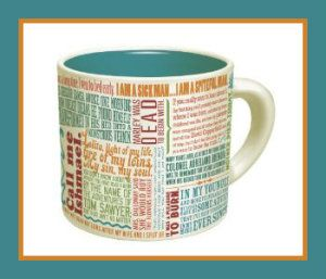 Great First Lines of Literature Mug. The lines are from some of the greatest works of literature. This is great as an intellectual conversation starter. See if you know from which book it came. http://theceramicchefknives.com/ceramic-mugs-variety/