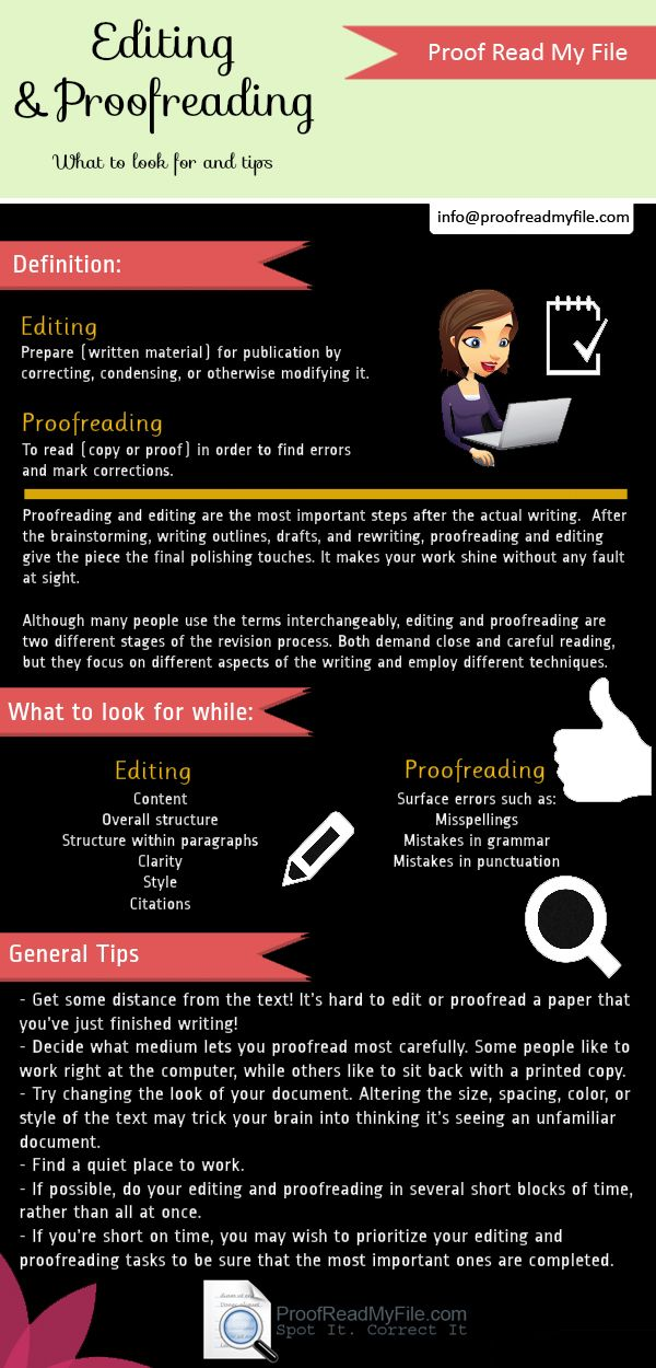 Essay proofreading and editing services