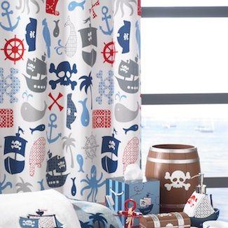 bambini pirates shower curtain by kassatex
