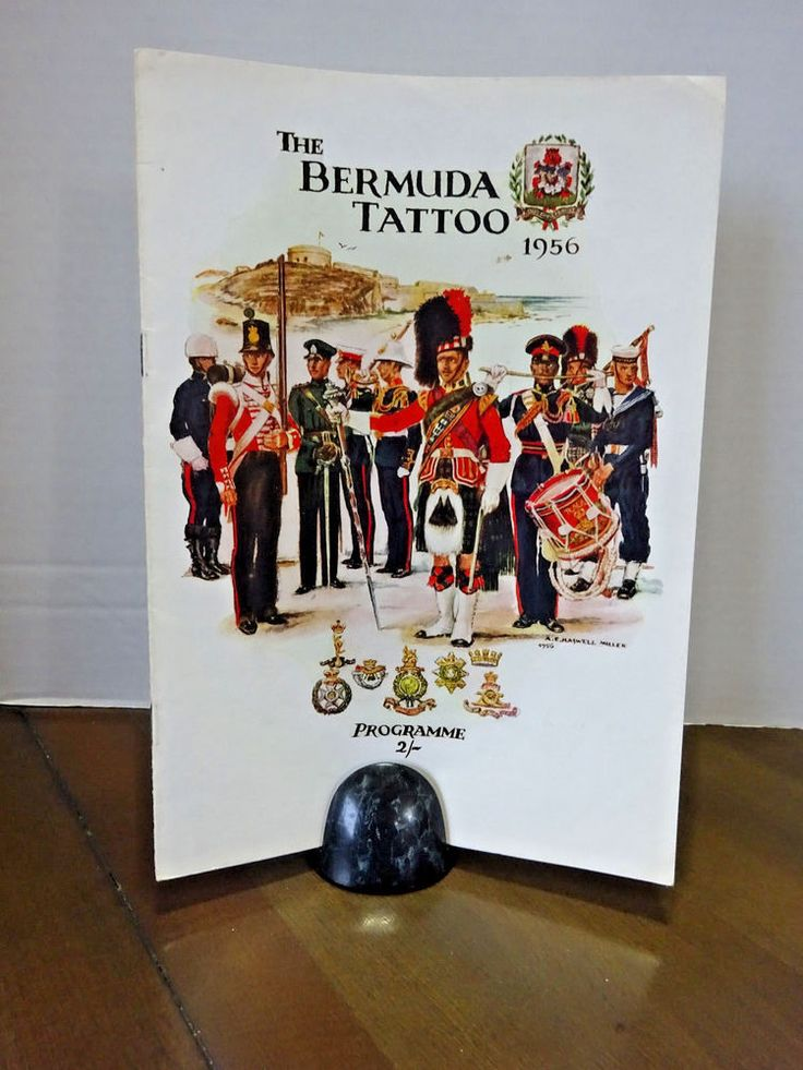 The Bermuda Tattoo  1956 Programme Military Bands And Drills H.M.S. Kenya