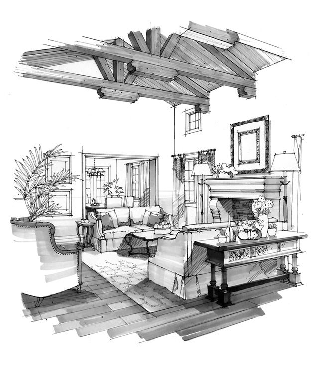 interior rendering interior sketch interesting drawings sketch design