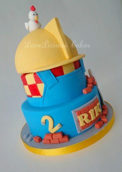 Bob the Builder cake www.loveliciouscakes.nl