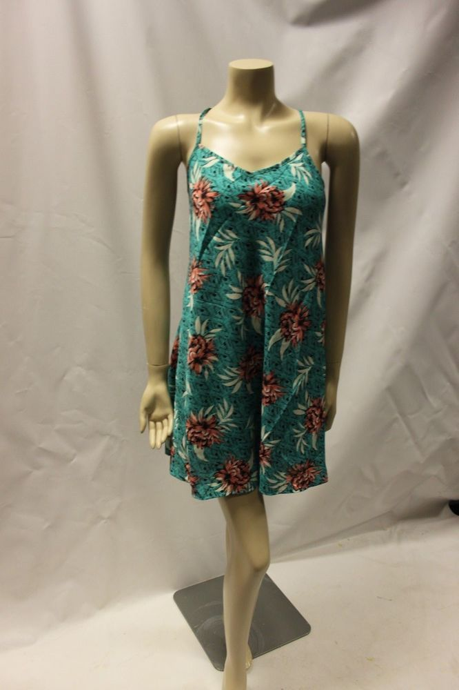 f57d4947e35e Ladies Striking New Look Green Floral Dress  Top Size 8 Summer Vest Blouse   fashion
