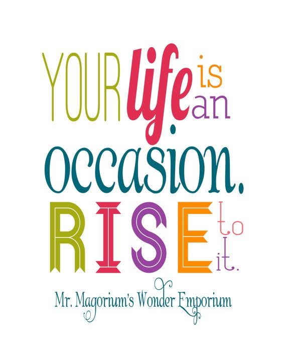 #Typographic #poster: Your life is an Occasion Rise to it from Mr. di TheBellaPrintShop