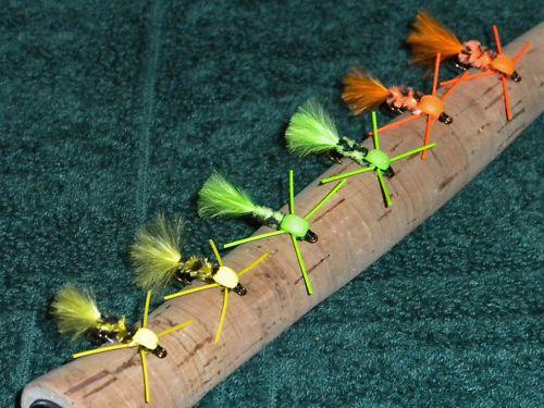Bluegill Bream Flies Neon Nymphs New Fly Set of 6 | eBay
