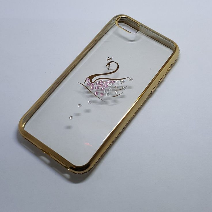 Apple iPhone 5G/5S/SE/5C - Chrome Edge with Rhinestone Silicone Case - 7.45$