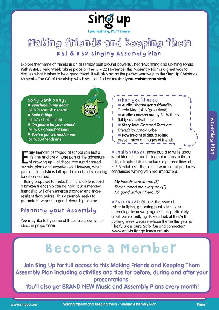 Support Anti-bullying Week with this Singing Assembly Plan for KS1 and KS2 all about friendship.